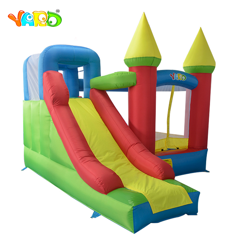где купить YARD Home Used Kids Inflatable Bounce House Inflatable Jumping Castle Bouncer with Amazing Bonus for Party Events дешево