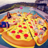Water beach supplies Pizza Float Thick PVC The whole family to play Pizza swim ring