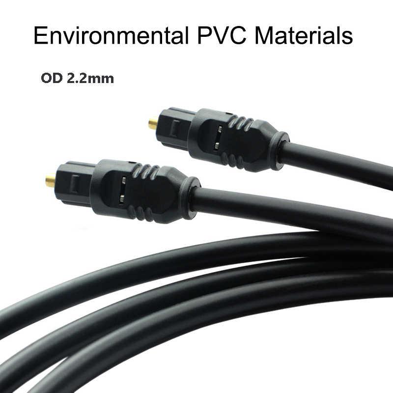 Duurzame Digitale Optische Audio Kabel Toslink Vergulde Spdif Md Dvd Voor Xbox 360 Blu-ray 1 M 1.5 M 1.8 M 2 M 3 M 5 M 8 M 10 M 12 M 15 M