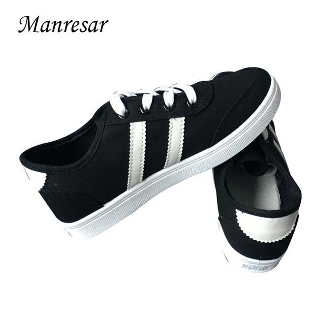 Manresar 2016 New arrival Lace-up Women Zapatos Mujer Women Classic Canvas Casual Shoes Women's The Trend of Female Round Toe