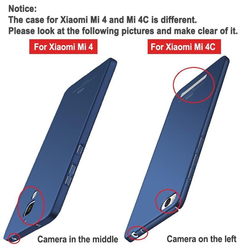 Xiao mi 4C чехол Msvii тонкий матовый Чехлы Для Сяо mi 4i mi 4i mi 4 C чехол Xao mi 4C PC Обложка Для Сяо mi 4 mi 4 M4 случаях