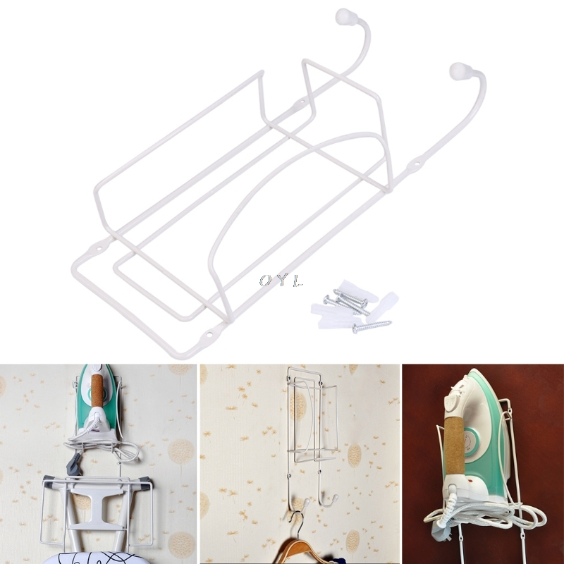 Electric iron Holder Rack Wall Mounted Bracket Store Tidy Hanger Space Saver StorageElectric iron Holder Rack Wall Mounted Bracket Store Tidy Hanger Space Saver Storage