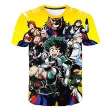 Summer High-Quality Unisex Boku No Hero T Shirt My Academia Tees T-Shirt Tshirt Harajuku Yoh Asakura Midoriya Izuku T-shirt