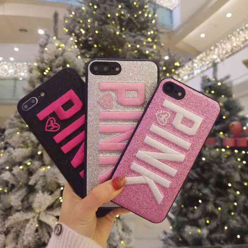 VS PINK Brand NEW Fashion Victoria Cute Girl Silicon TPU Soft Case for iPhone 6 6s 7 8 Plus 8Plus X 5s 5 SE Phone Cover Secret