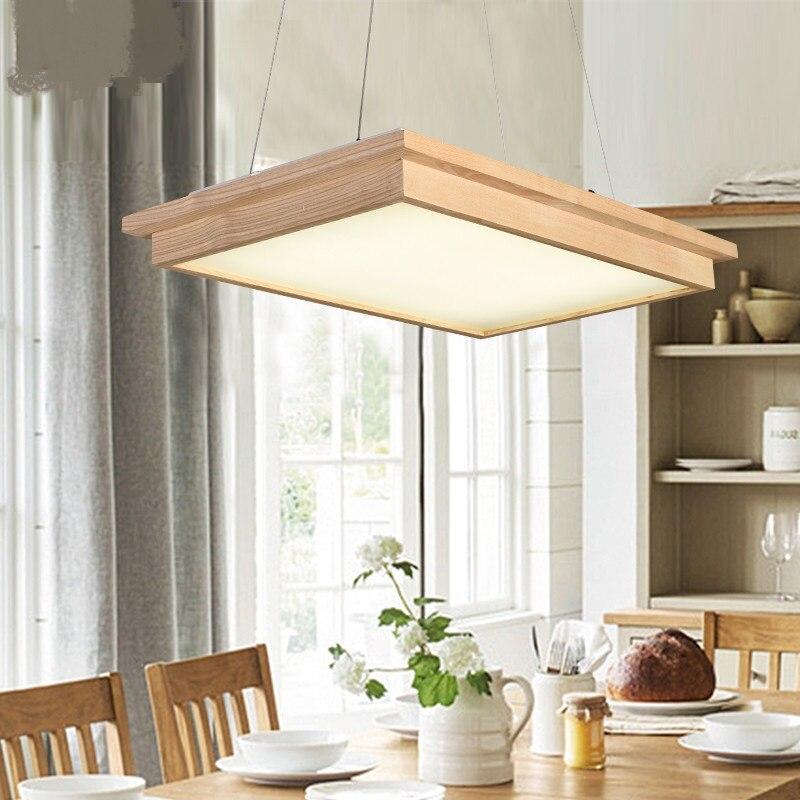 Japanischen Stil Led Pendelleuchten Holz Restaurant Wohnzimmer Abendessen Personalisierte Kreative Massivholz Beleuchtung Log Lampe ZA MZ78