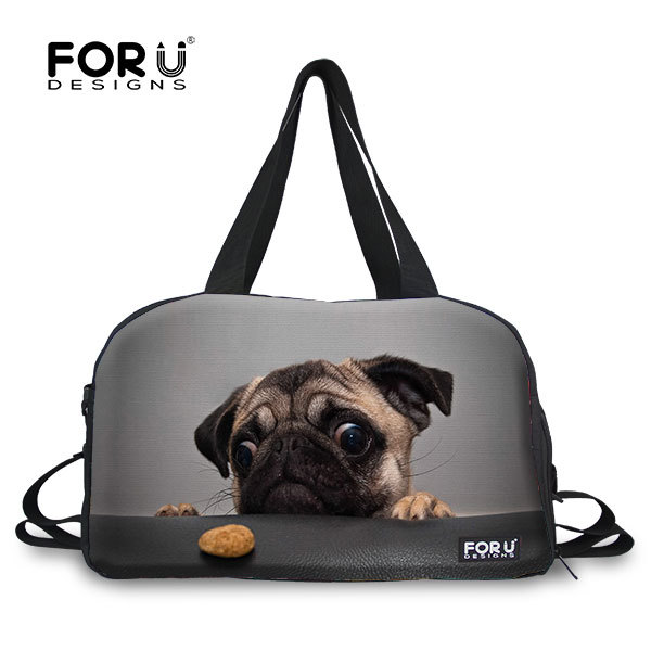New brand multi-function men's travel bags cute french bulldog journey bags with strap large capacity women travel duffle bag