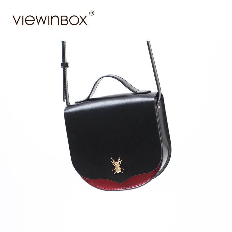 Viewinbox Brand New Designer Handbags High Quality Purse and Saddle Handbags Split Leather Messenger Bag
