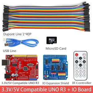 Image 2 - Rich UNO R3 Atmega328P Development Board Module Kit C Compatible with Arduino UNO R3,with MP3 RTC Temperature Touch Sensor