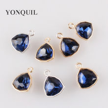 2018 New Vintage women royal blue brooch pins glass jewelry for wedding luxurious pin and brooches for ladies Earrings jewelry(China)