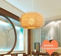 Sudeste Da Ásia estilo mão knitting rattan arte Lustre Moderno rural E27 CONDUZIU a lâmpada para o alpendre & parlor & stairs & corredor LHDD049