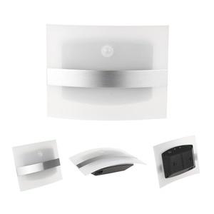 Image 3 - LED ضوء الليل الألومنيوم حالة إضاءة المنزل مشرق LED مصابيح بمستشعرات حركة المنشط اللاسلكية الجدار مصباح الشمعدان البطارية بالطاقة