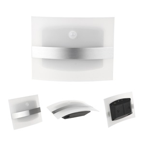 Image 3 - LED veilleuse boîtier en aluminium éclairage à la maison lumineux détecteur de mouvement LED lumières activé sans fil applique murale à piles