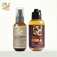 PURC Hair Growth Spray Fast Grow Hair hair lossTreatment Preventing Hair Loss and Herbal Ginger Regrowth Hair Shampoo 100ml