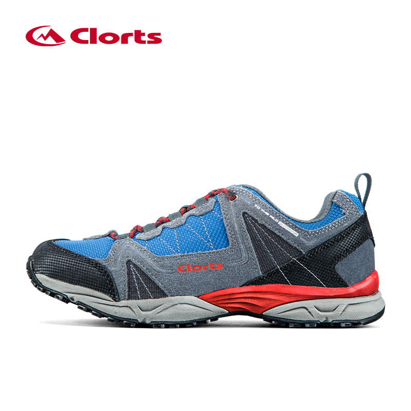 Clorts Man Hiking Shoes Outdoor Trekking Shoes Suede Leather Climbing Shoes Breathable Hike Shoes for Men Mountain 3D028A/B clorts waterproof hiking shoes for women breathable outdoor mountain shoes suede leather climbing footwear