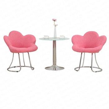 1B Creative Makeup Chair Modern Minimalist Bar Chair Living Room Lounge Chair Bedroom Princess Pink Cute Beauty Dressing Stool