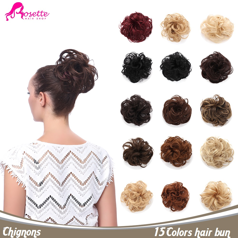 15Colors Curly Synthetic Hair Bun Extension Clip In Messy Chignons For  Ponytail Fasht Shipping Elastic Fake hair bands 2dc18c7499e