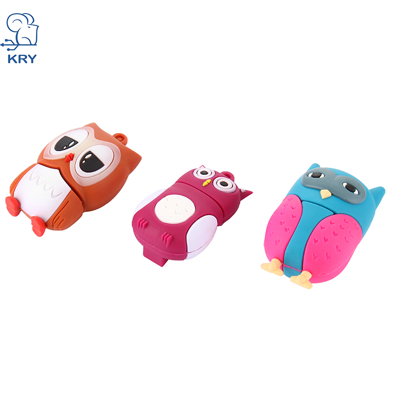 KRY 2017 Cartoon Owl Model USB Flash Drive Memory Stick Pendrive 4GB 8gb 16gb 32gb USB Flash Drive USB 2.0 Pendrives Free Shippi