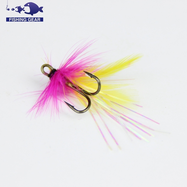 aliexpress : buy 24pcs double hook fly fishing lure artificial, Fishing Bait