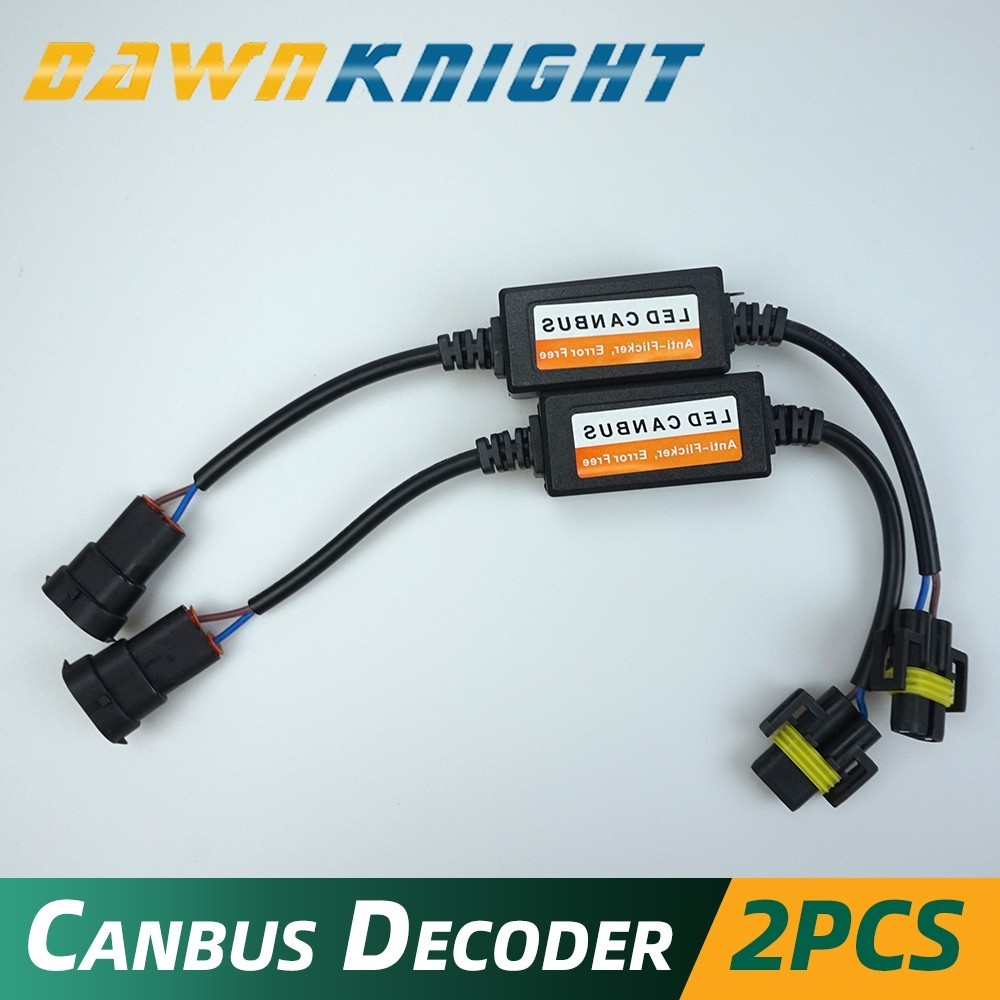 DAWNKNIGHT H7 LED H1 H3 H4 H8/H9/H11 9005/9006/9012 H13 Canbus Decoder The Capacitor Filter Eliminate Radio Interference