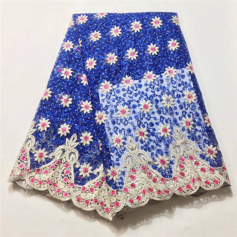 New Arrival!Royal Blue French Lace Fabric With Beads Nigeria Lace Fabric 2018 High Quality  Net Lace Nigerian Material DressNew Arrival!Royal Blue French Lace Fabric With Beads Nigeria Lace Fabric 2018 High Quality  Net Lace Nigerian Material Dress