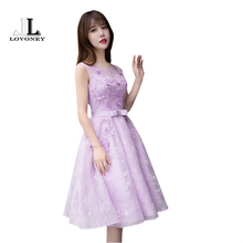 LOVONEY T417 Real Photo A-Line Lace Short Prom Dresses 2017 Formal Party Dresses with Beading Vestido De Festa Curto