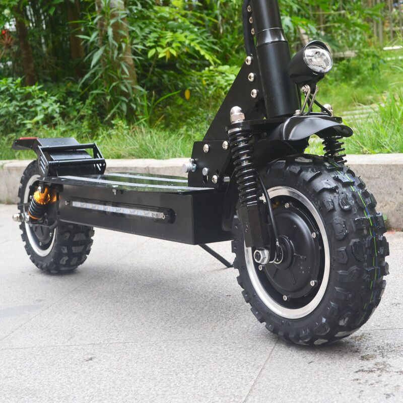 flj adult electric scooter with 60v 3200w strong power kick scooter fat tire big wheel electric. Black Bedroom Furniture Sets. Home Design Ideas