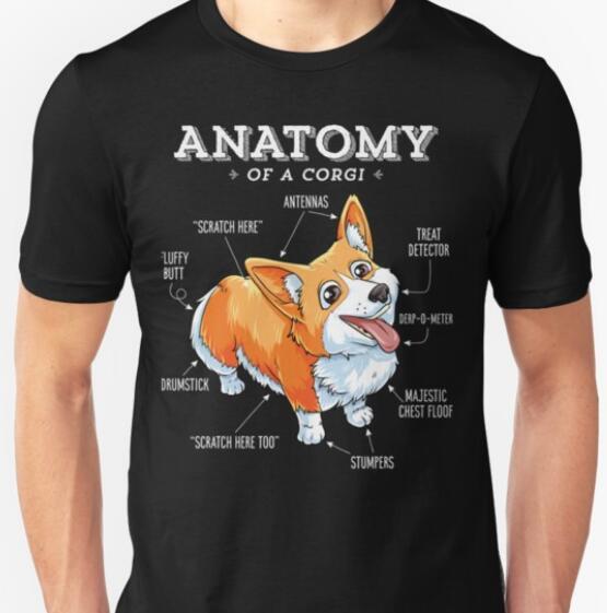 Dependable Anatomy Of A Corgi T-shirt Funny Corgis Dog Puppy Newest 2019 T Shirt Men T-shirt Punk Tops Cotton T Shirt T-shirts