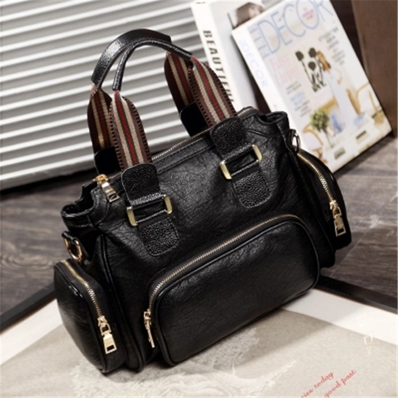 Ribbon shoulder bag 2018 new wave wild retro color hit shoulder diagonal casual ladies bag fototende fototende