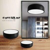 Modern LED Dimerable Ceiling Lighting Matt Black And White Dia 35 49cm Kitchen Living Room Ceiling