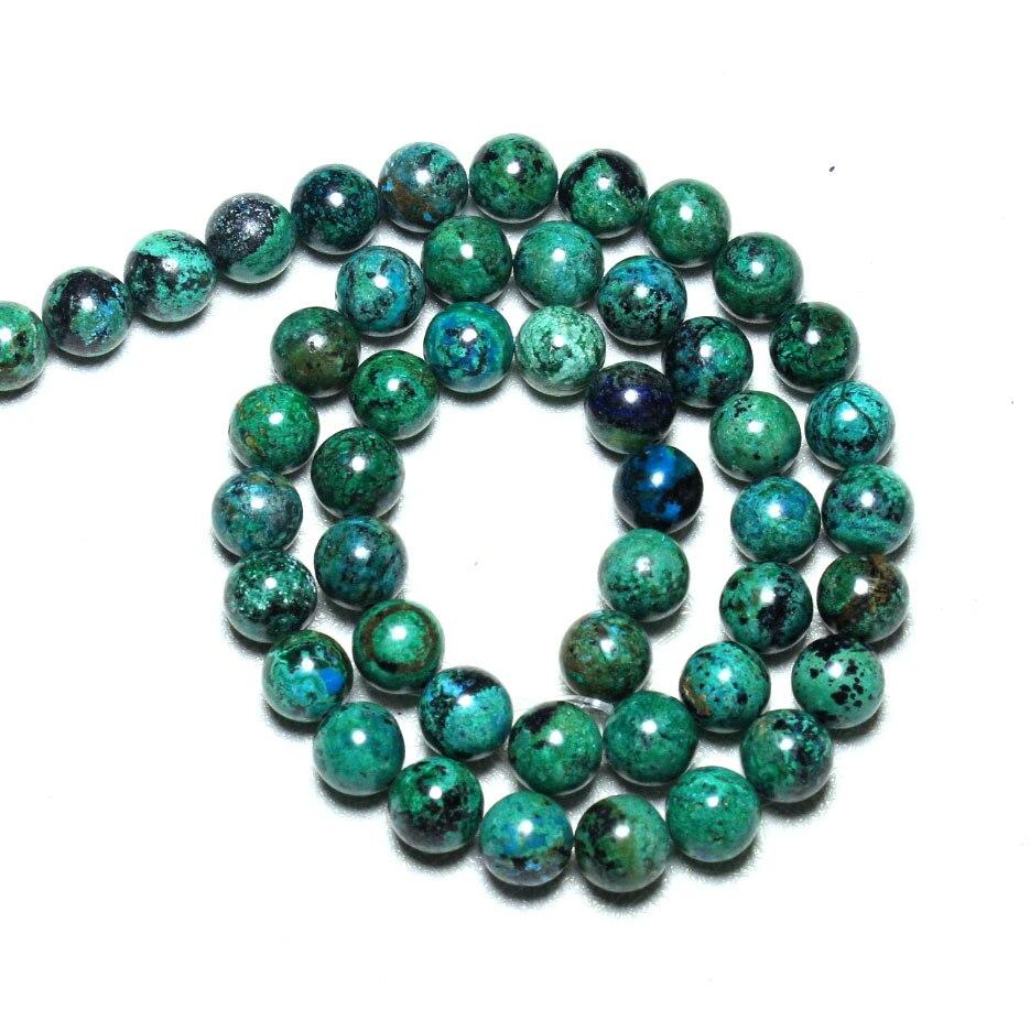Prix pour AAA + Naturel Haut Grade Chrysocolla Semi-Précieuse Phoenix Pierre perles Pour Les Bijoux Faisant DIY Matériel 6/8/10mm Brin 15.5''