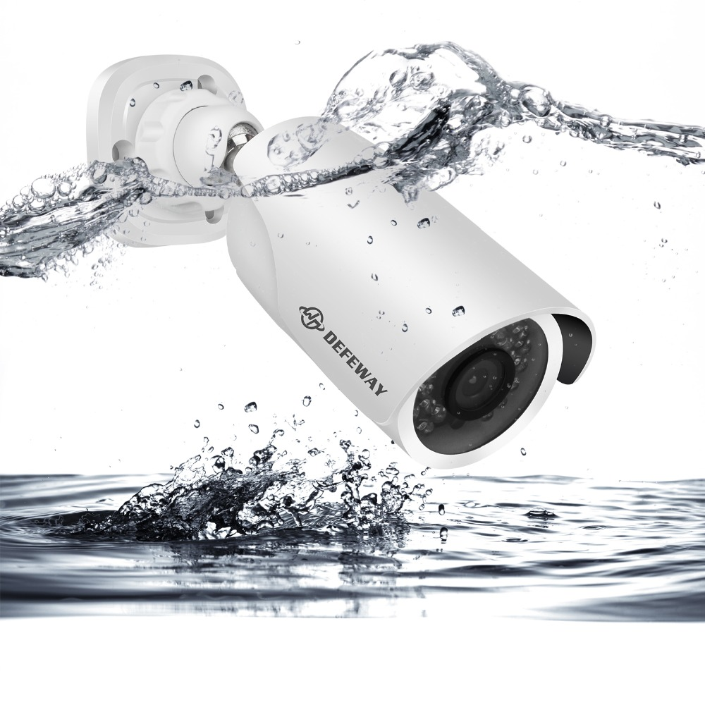 DEFEWAY 4CH Cctv systeem 1080 p HDMI HD DVR 4 stks 2.0 MP IR Outdoor Bewakingscamera 2000 TVL Camera surveillance Systeem 1 tb HDD-in Bewakingssysteem van Veiligheid en bescherming op  Groep 3