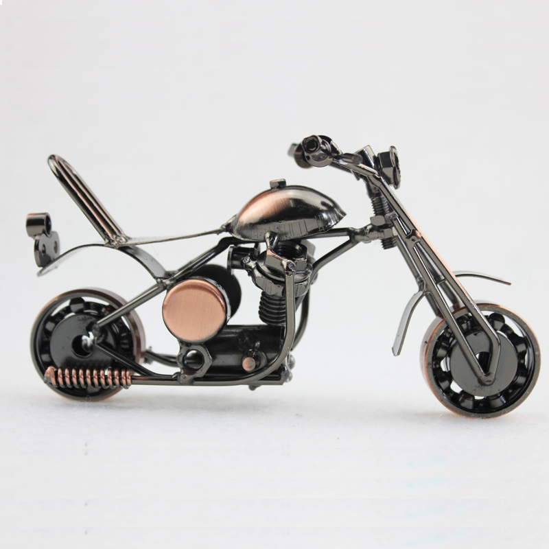 1 Piece 6 Inch 2 Colors Vintage Home Decor Classics Halley Motorcycle Handmade Metal Crafts For Art Home Cabinets Decoration
