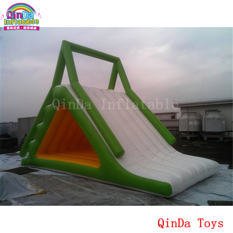 Commercial used water park inflatable triangle water slide for kids jungle commercial inflatable slide with water pool for adults and kids