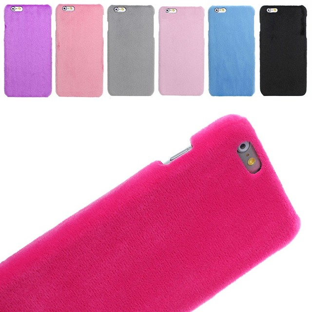 wholesale dealer 70fda fb6be US $1.99 |Fashion Simply Soft Velvet Warm phone cases for iphone 7 7plus 6  6s 6 plus 5 5s SE coverring Hard back cover hot pink 6 colors on ...