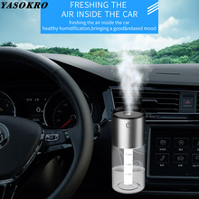 YASOKRO Dual USB Car charger Humidifier Mini Air Purifier Aroma Diffuser Auto Air Freshener Aromatherapy Mist Maker