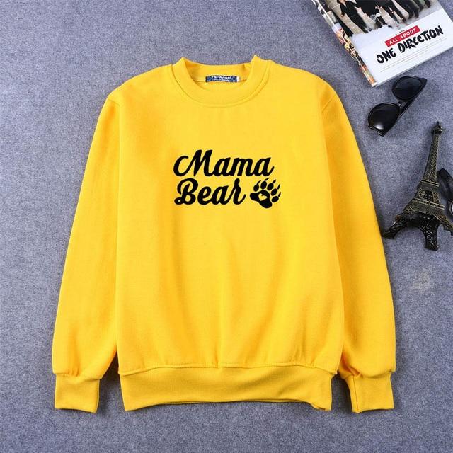Sweat-shirts maman ours sweat-shirts fête des mères sweat-shirts maman ours patte imprimé t-shirts hommes femmes