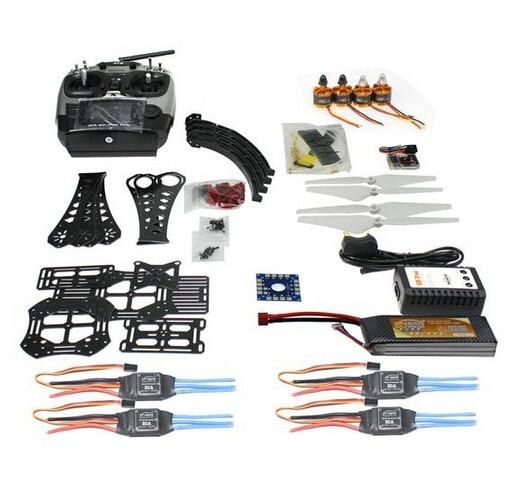 F14893-J DIY RC Drone Quadrocopter Full Set X4M380L Frame Kit QQ Super AT9 TX RX Brushless Motor