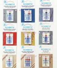 Эластичная тонкая ткань, трикотажная ткань, синяя игла, полный спектр двойные иглы, Германия SCHMETZ швейная машина иглы