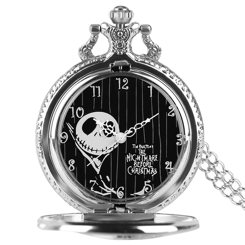 Jack Sally The Nightmare Before Christmas Charm Silver Quarzt Pocket ...