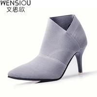 Nóng Bán Chỉ Toe Cao Gót Giày Phụ Nữ Khởi Động Cơ Bản mùa thu Và Mùa Đông Casual Được Trang Bị Nữ Thời Trang Đơn Outwear Giày DT609