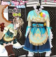 Любовь жить Маки Nishikino eli Ayase всех задействованных семь Лаки gods пробудить Косплэй Хэллоуина платье + аксессуары для волос + корона