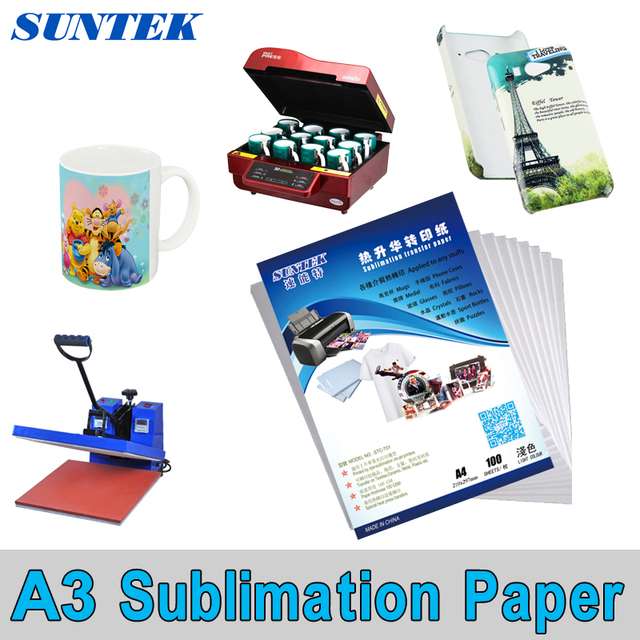 100sheets A3 Size Sublimation Transfer Paper For Ceramic