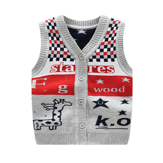 Ivory Yellow Beige Lynna Striped Faux Linen 3 Piece: Baby Boys Knitted Vest Warm Character Pattern Knitted Boy