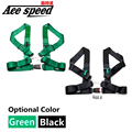 "Ace speed--3""Sport Tuning 4 Point NYLON RACING HARNESS ADJUSTABLE SAFETY SEAT BELT BUCKLE (Default color Green)"