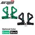 """Velocidad as-3 """"Sport Tuning 4 Puntos RACING CINTURÓN de seguridad ARNÉS de SEGURIDAD AJUSTABLE de NYLON HEBILLA (color Predeterminado verde)"""