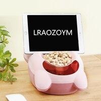 Lraozoym怠惰なフルーツトレイを置くことができ電話二重層ppドライフルーツボックス創造アップグレード堅牢度かわいいデザイ