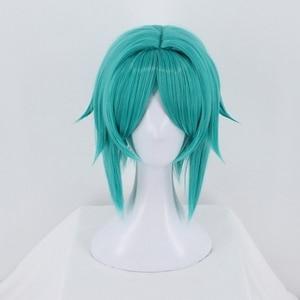 Image 2 - Anime Houseki no Kuni Cosplay Wig Land of the Lustrous Phosphophyllite Synthetic Halloween Costume Green Short Hair