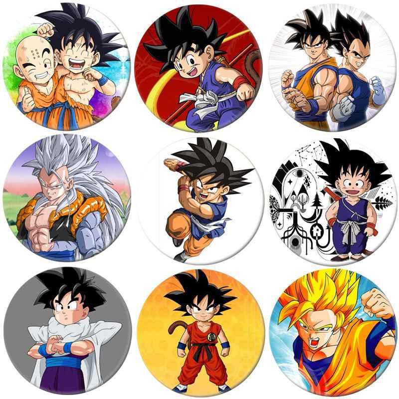 1 pçs anime dragon ball cosplay emblema dos desenhos animados goku saiyan broche pinos coleção emblemas para mochilas decoração