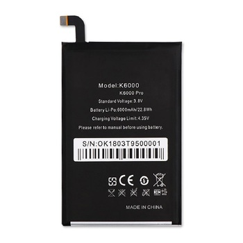 For Oukitel K6000 Pro Battery Replacement Original Large Capacity 6000mAh Back Up Batteries For Oukitel K6000 Pro image
