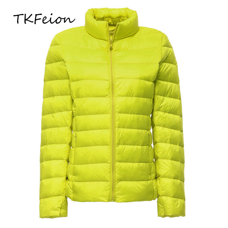 Female Short Jackets 2019 Spring Autumn Womens Bomber Slim Coats Warm Duck Down Light Thin Factory Direct Sale Plus Size 6XL 7XL